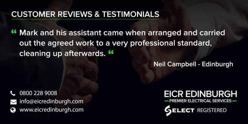 edinburgh electricians testimonials